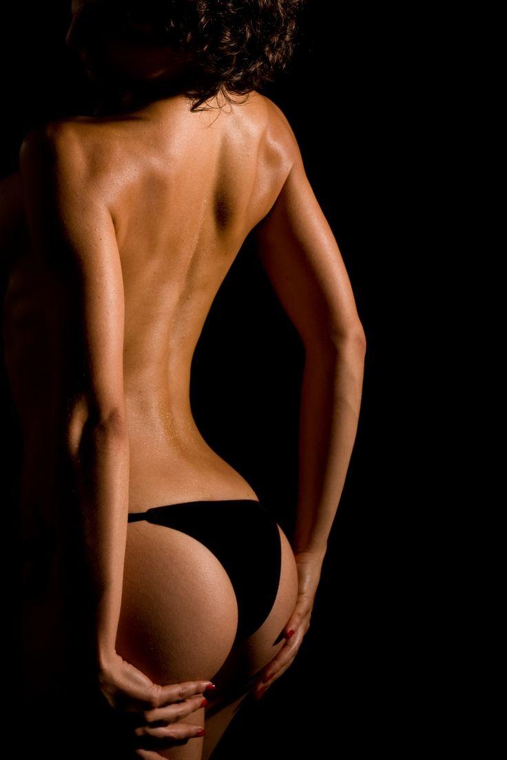Beautiful Girl Showing Her Back She Stock Photo