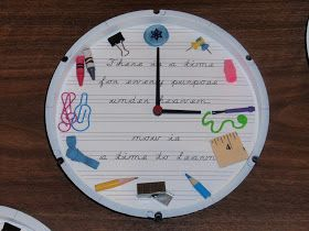 Diary of a Crafty Lady: Teacher Appreciation Personalized School Supplies Clock