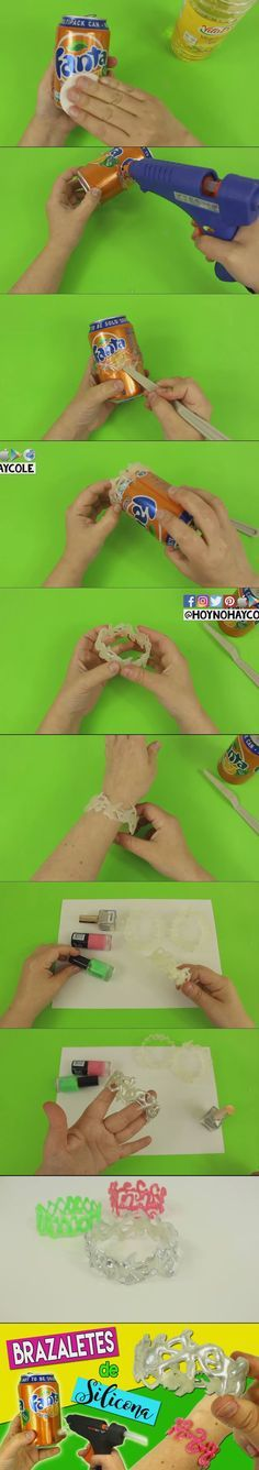 ...Bracelets made out of silicone, then painted.  Very cool!