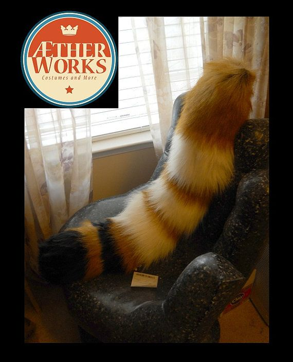 Red Panda Tail by AetherWears on Etsy