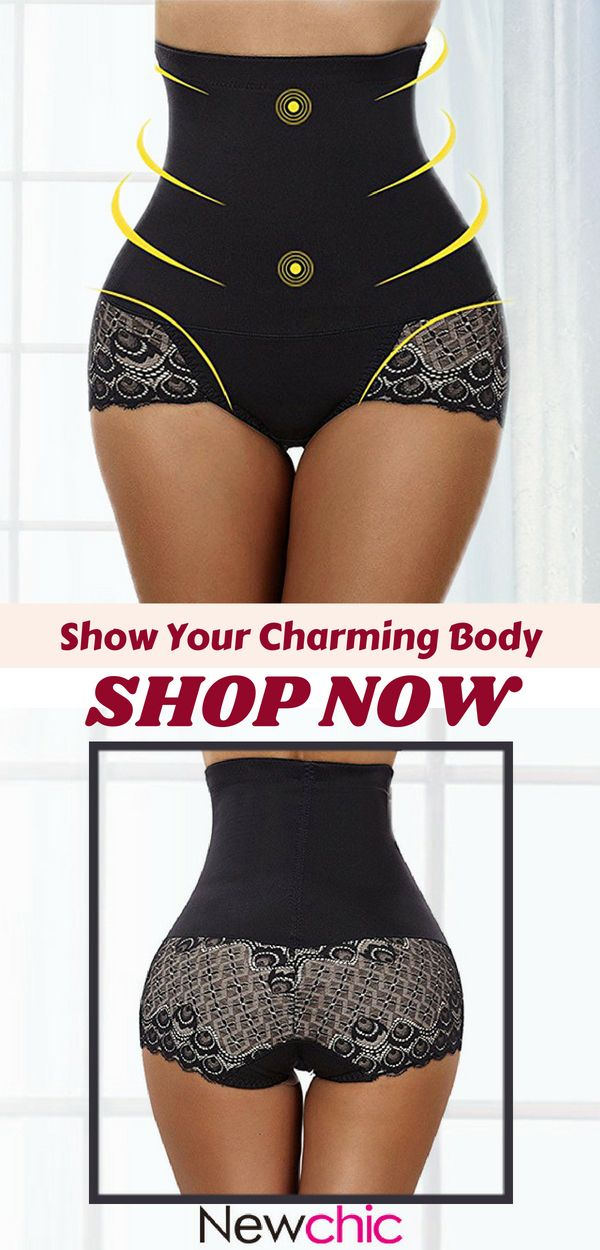 6a5bacedcd425  US 15.59 High Waist Lace-trim Tummy Control Hip Lifting Shapewear   shapewear  shaping  tummy-control  waist  lace  sexy