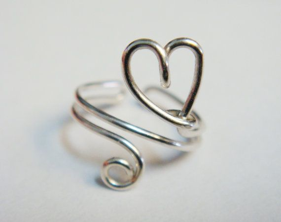 Hey, I found this really awesome Etsy listing at https://www.etsy.com/listing/120731507/silver-heart-ear-cuff-sterling-silver