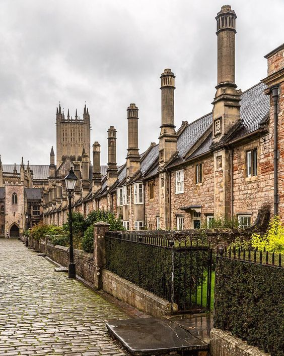 In Vicars Close, Wells, England.