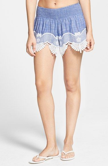 Rip Curl 'Modern Love' Lace Trim Shorts (Junior) available at #Nordstrom