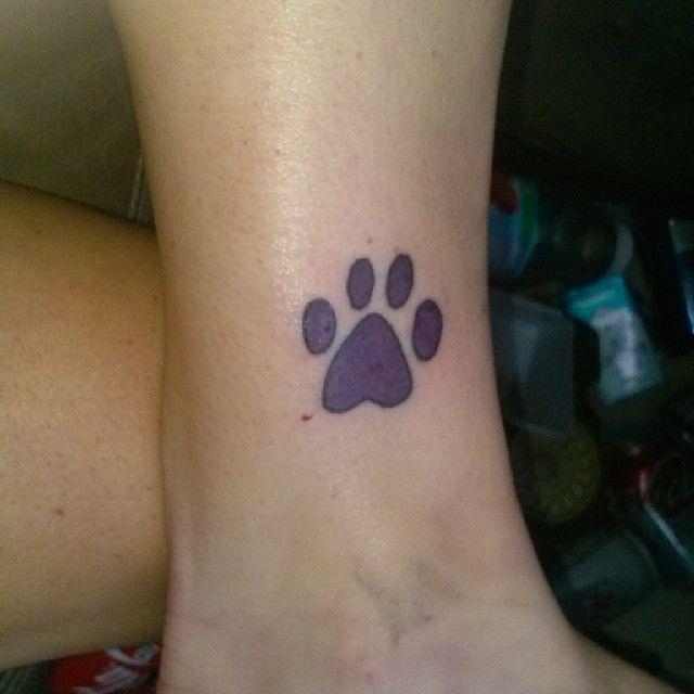 Ankle Paw Print Tattoo