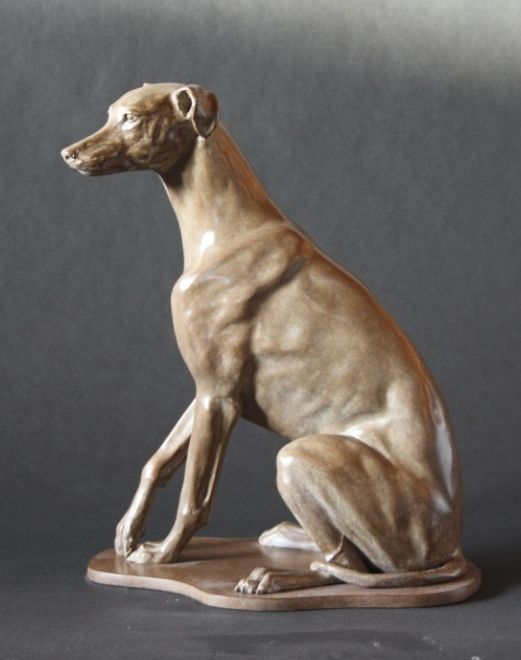 Whippet a limited edition bronze sculpture