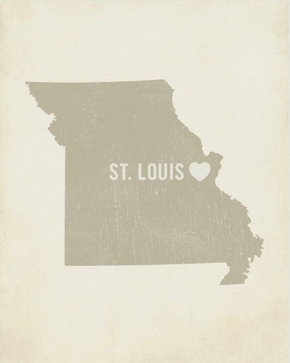 I Love St. Louis 8x10 Wood Block Art Print - Missouri City State Heart. $39.00, via Etsy.