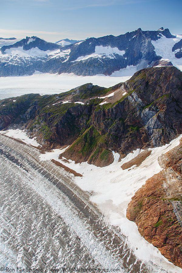 Aerial view of Herbert Glacier, Tongass National Forest, near Juneau, Alaska