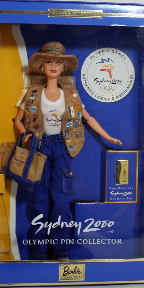 Sydney 2000 Olympic Pin Collector Barbie 1999, MIB NRFB - 25644 #Mattel
