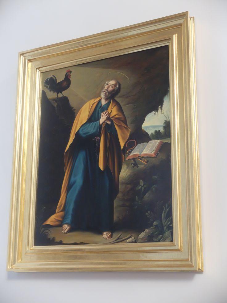 Capilla de la Inmaculada. Juan Duns Scoto orando. También fue donado desde Pastrana y Perteneció a Santa María de Jesús , de Alcalá de Henares. Autos desconocido.