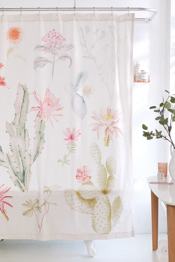 Desert Flora Shower Curtain Urban Outfitters Home Curtains
