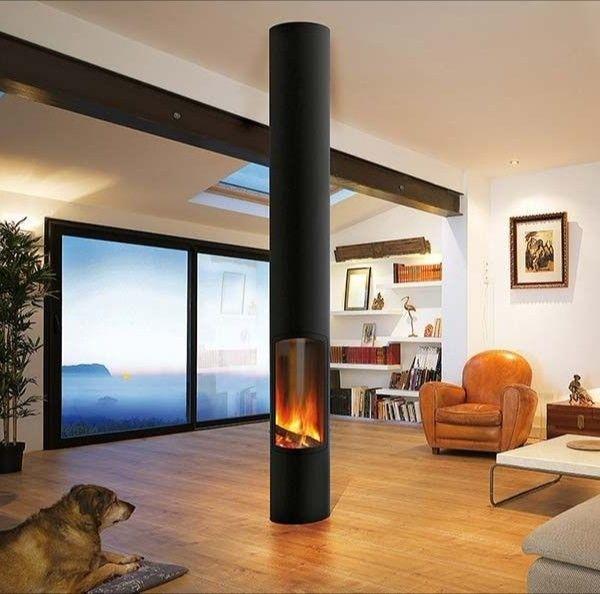 Die Einfache Variante Fur Offenes Feuer Im Wohnraum Kaminofen