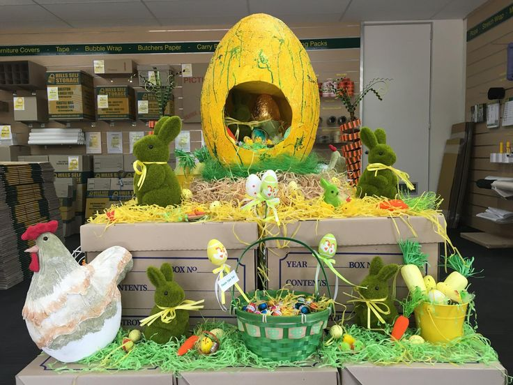 Happy Easter from Hills Self Storage - Pop into our Castle Hill Facility to check our Easter display along with free Chocolate Eggs
