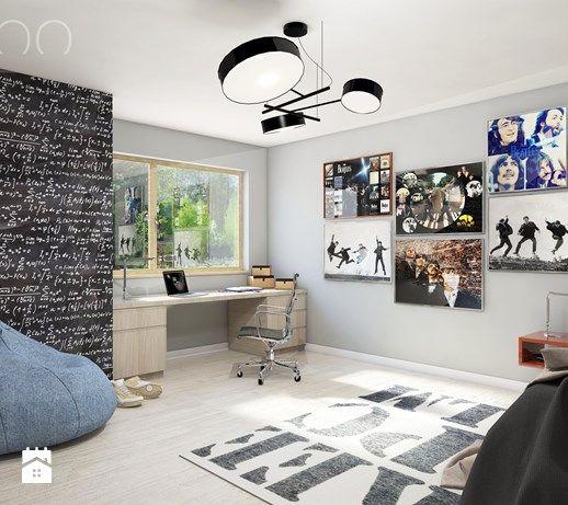 Aranżacje wnętrz - Pokój dziecka: NOWOCZESNY VINTAGE - Duży pokój dziecka dla chłopca dla nastolatka, styl nowoczesny - UTOO- pracownia architektury wnętrz i krajobrazu. Przeglądaj, dodawaj i zapisuj najlepsze zdjęcia, pomysły i inspiracje designerskie. W bazie mamy już prawie milion fotografii!