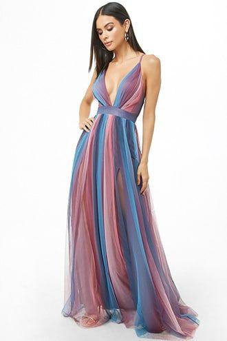 7a3cacdf12 Ombre Mesh Maxi Dress