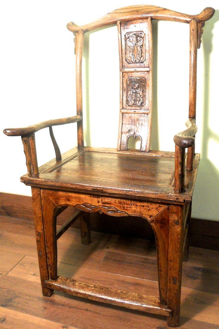 Antique high back chairs - Antique Chinese High Back Arm Chair 5503 Circa 1800 1849