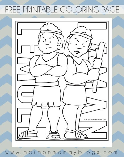 Free LDS Coloring Pages Laman
