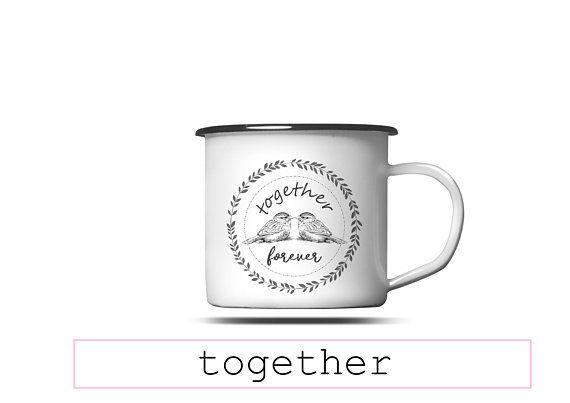 Custom Enamel Wedding Mug