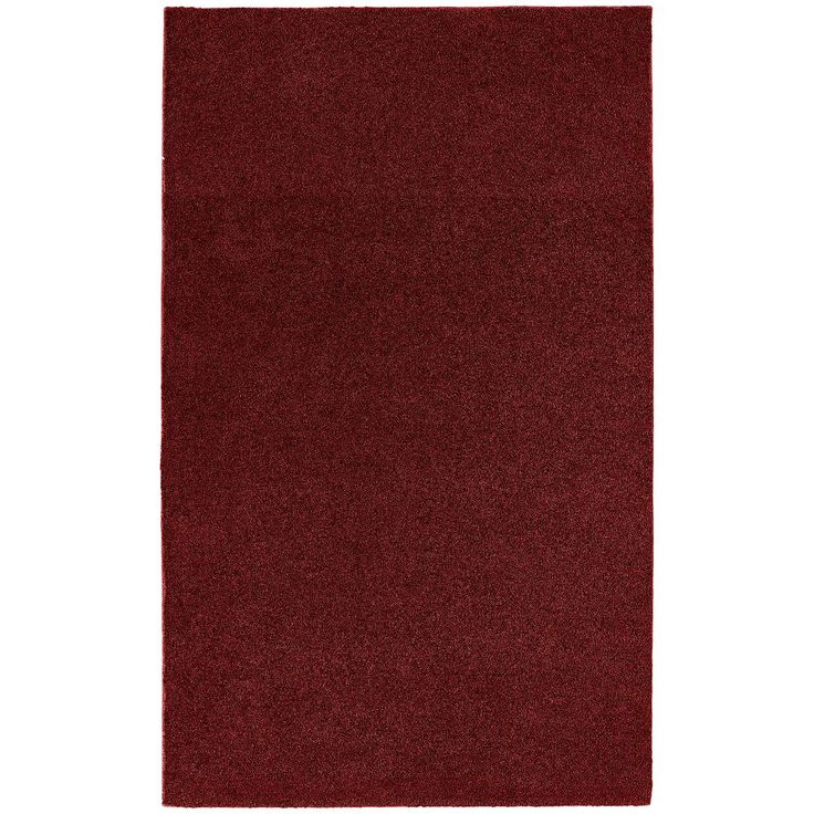 Garland Rug Bathroom Carpet - 5' x 8', Red