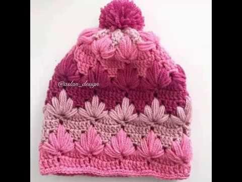 Beautiful Crochet hat-Step By step-Caciula Crosetata