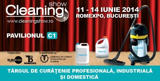Cleaning Show, 11 – 14 iunie 2014, Romexpo Editie aniversara in 2014!