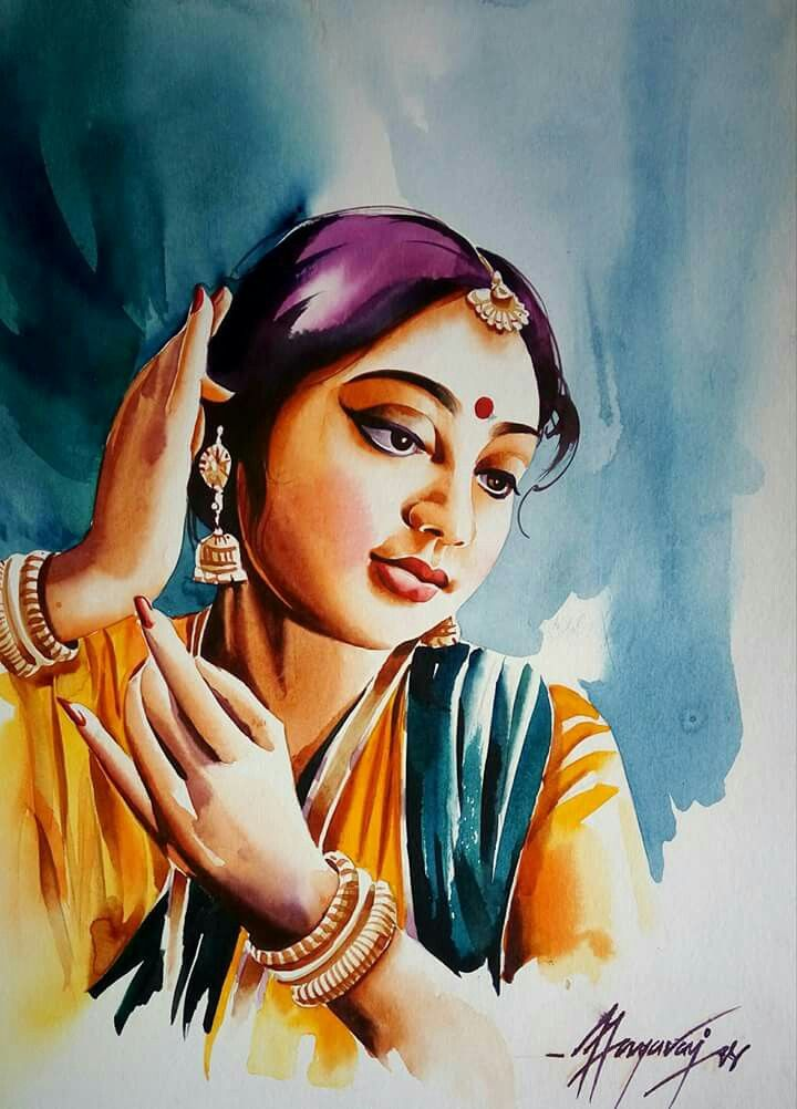 Pin By Arslan On Art Potrait Painting Indian Art Gallery