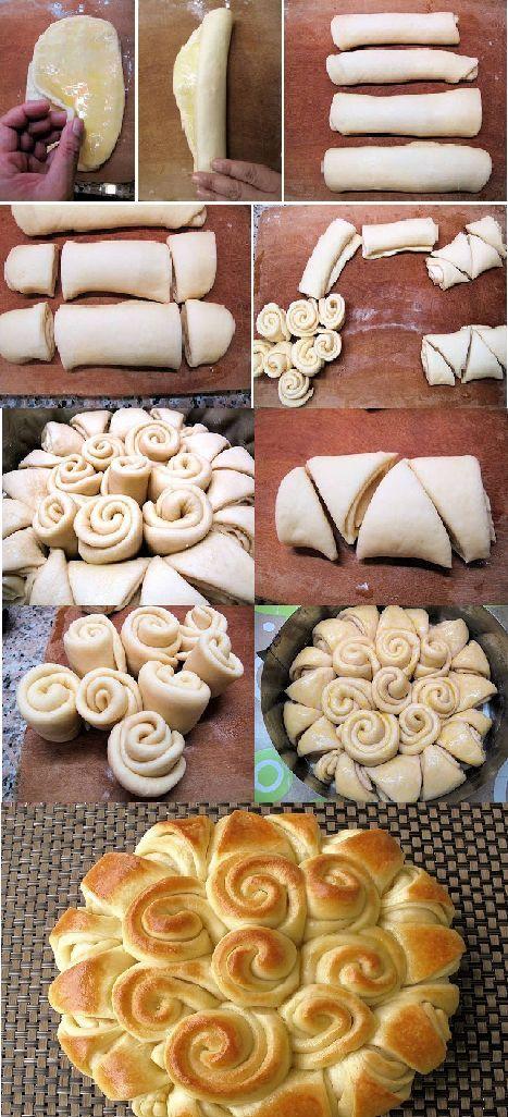Comment faire un pain en forme de fleur - Trucs et Bricolages