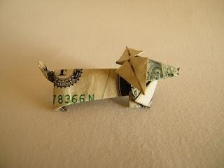 wiener dog dollar origami yes!