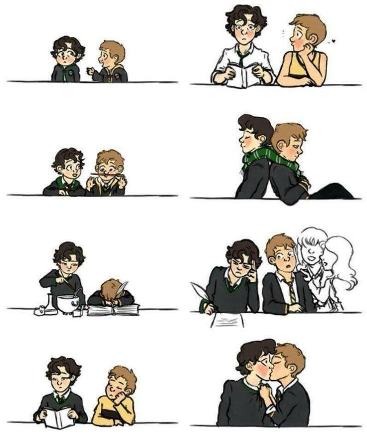 Look at baby John and Sherlock!