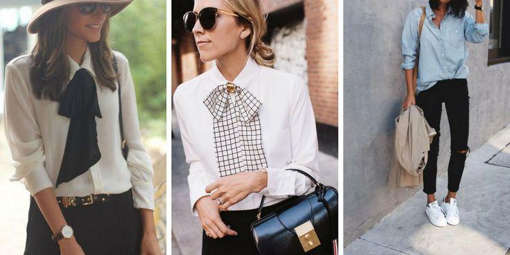 5 Modelle von Damenhemden