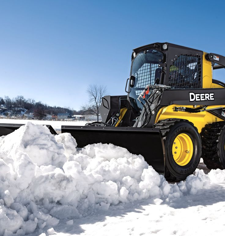 Simplify Snow Removal With the New John Deere Snow Utility V-Blade Attachments - Rock & Dirt Blog Construction Equipment News & Information