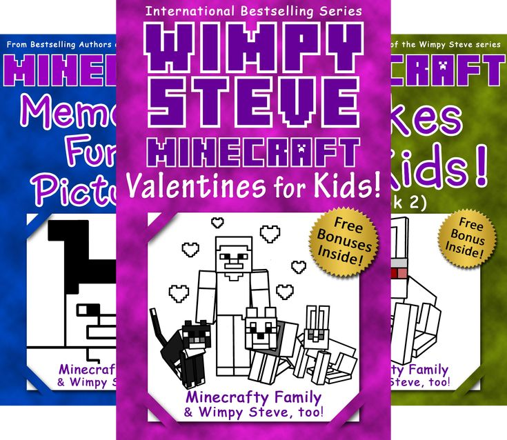 Minecraft Activity Books: Wimpy Steve @ niftywarehouse.com