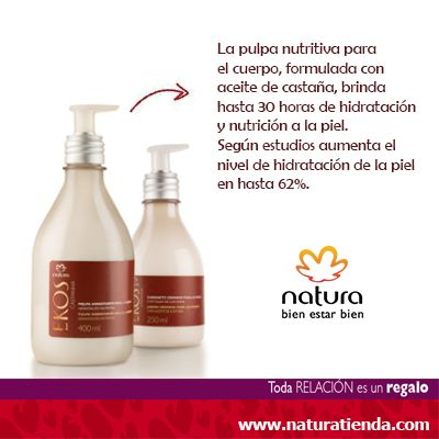 Natura Ekos Pulpa de Castaña Hidratante. De venta en #NaturaTiendaOnline www.naturatienda.com