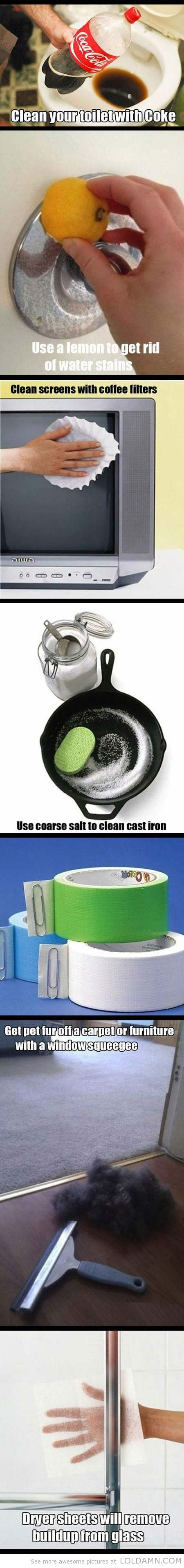 Life hack: 8 awesome cleaning tips...