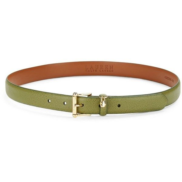 Lauren Ralph Lauren Women's Tumbled Faux Leather Belt ($15) ❤ liked on Polyvore featuring accessories, belts, cargo olive, skinny belts, lauren ralph lauren belt, fake belts, lauren ralph lauren and thin belts