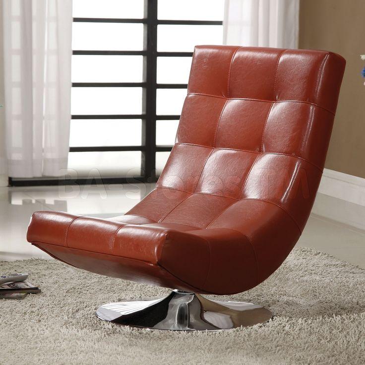 Super Comfy Leather Swivel Chair Designer WohnzimmerGepolsterte