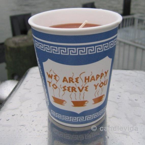 Hazelnut Coffee New York Greek Coffee Cup Candle by candlevida, $17.00