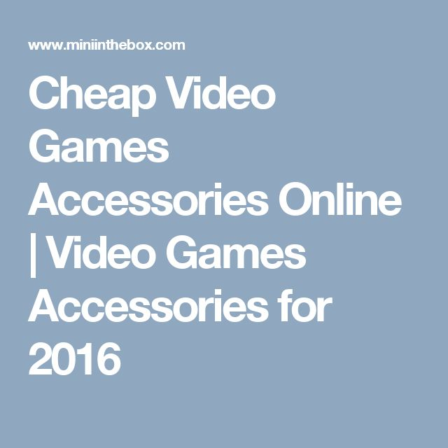 Cheap  Video Games Accessories Online | Video Games Accessories for 2016