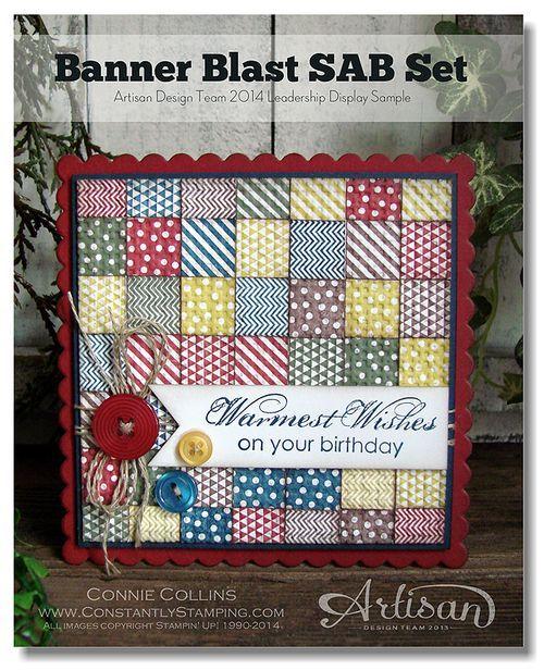 Banner Blast Quilt Card