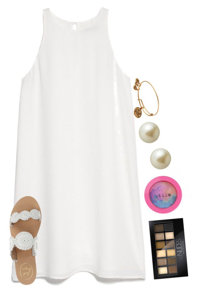 """inverted color challenge!!!"" by smileyavenuegirl ❤ liked on Polyvore featuring MANGO, Stila, Jack Rogers, Maybelline, Carolee and Alex and Ani"