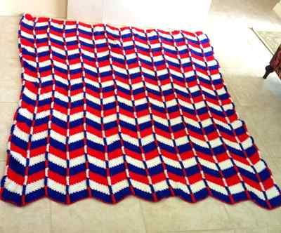 43 Best Mycrochet Patriotic Ripple Afghans Images On Pinterest