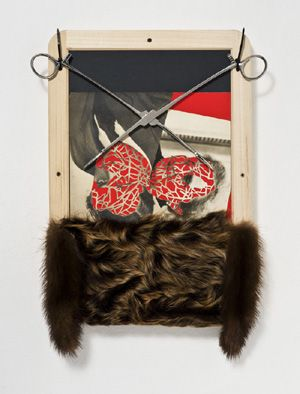 UMBERTO CHIODI: COLLAGES ON WOOD - 2011