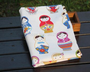 New arrive Matryoshka  design cotton meterial high quality  fabric DIY sewing craft cloth A1-1-T