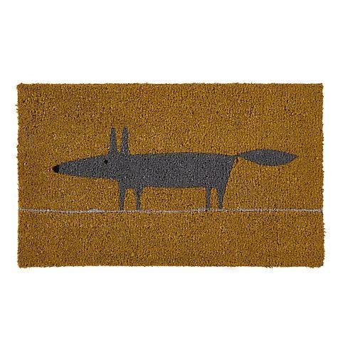 Scion Mr Fox Doormat Yellow Scion Mr Fox Yellow