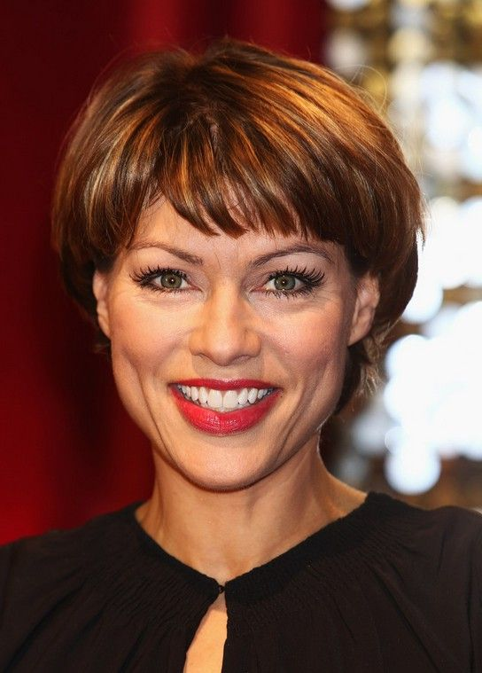 Kate Silverton Short Haircut With Bangs For Women Over 40 Short Haircuts Haircuts And Thicker