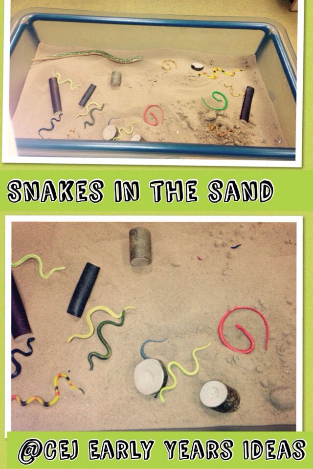 Snakes in the sand