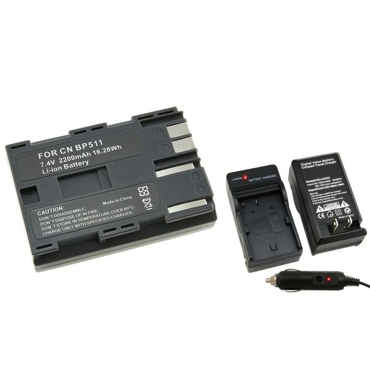 Insten Camera Battery and Charger for Canon Rebel EOS/ 20D/ 30D/ 40D/ D60/ G5, Grey #249170