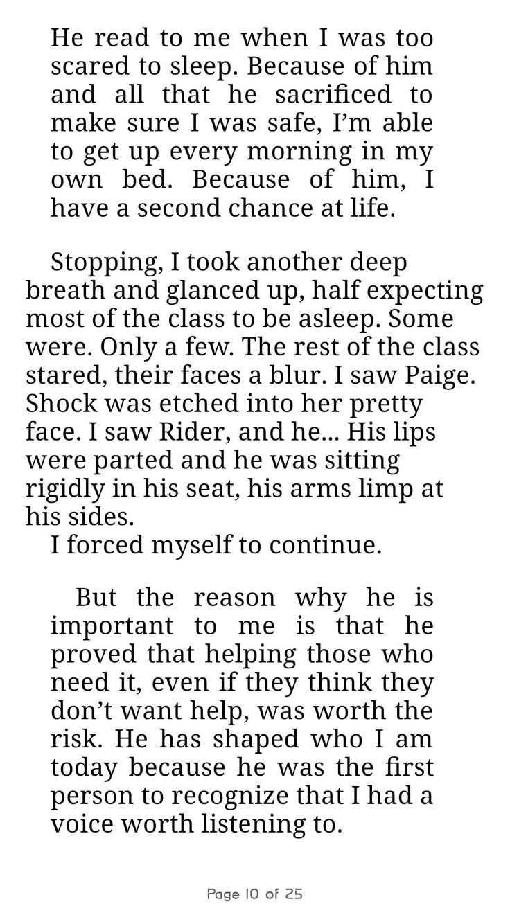 Mallory's speech p.4 from The Problem with Forever by Jennifer L. Armentrout