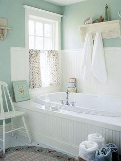 30 adorable shabby chic bathroom ideas seafoam - Seafoam Green Bathroom Ideas