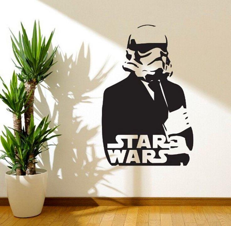 Звездные войны - наклейки виниловые обои домашнего декора костюм современный декор стены искусства подходит для гладкую поверхность паста характер плакаты